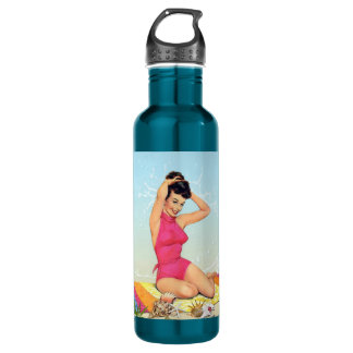 Retro Beach Pin Up 710 Ml Water Bottle