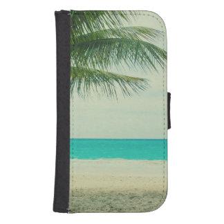 Retro Beach Theme Samsung S4 Wallet Case