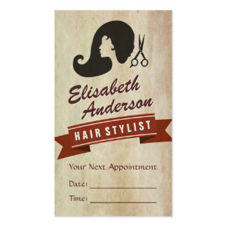Retro Beauty - Hair Salon Stylist Appointment Pack Of Standard Business Cards