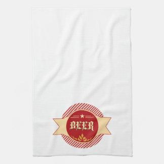 Retro Beer Logo Bar Towels