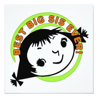 Retro Best Big Sis Ever Invitation