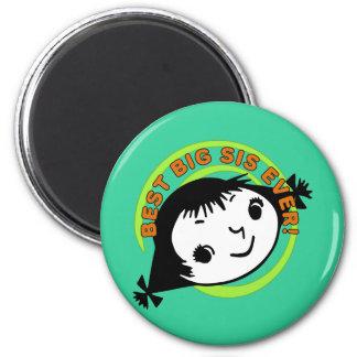 Retro Best Big Sis Ever Magnets