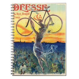 Retro Bicycle Ad 1898 Notebooks