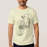 Retro Bicycle drawing design in black T Shirt