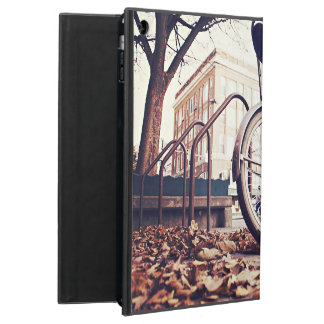 retro bicycle  parking autumn cover for iPad air