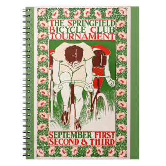 Retro Bicycle Poster 1895 Notebooks
