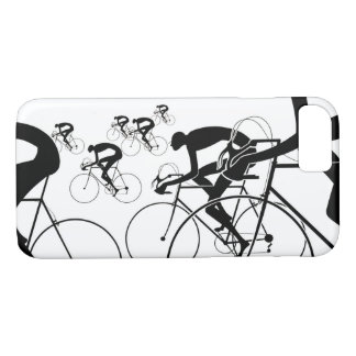 Retro Bicycle Silhouettes 1986 iPhone 8/7 Case