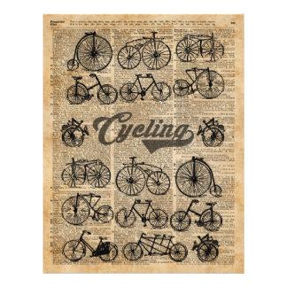Retro Bicycles Vintage Illustration Dictionary Art 21.5 Cm X 28 Cm Flyer