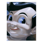 Retro Big Boy Painting Postcard