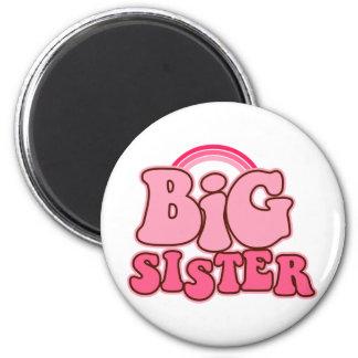Retro Big Sister Refrigerator Magnet