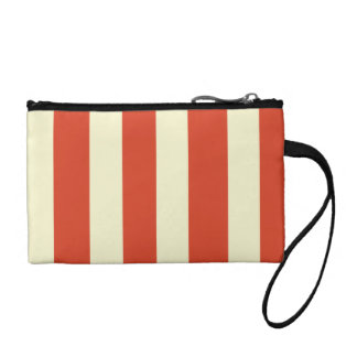 Retro Big Top Striped Key Coin Clutch Coin Wallet