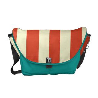 Retro Big Top Striped Messenger Bag