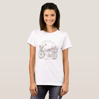 Retro Bike with Front Basket T-Shirt
