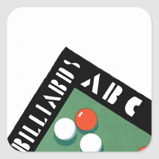 Retro Billiards Square Sticker