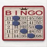 Retro Bingo Card Mouse Pads