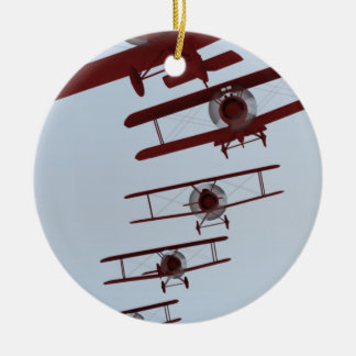 Retro Biplane Christmas Ornament