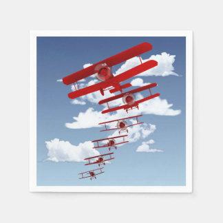 Retro Biplane Disposable Serviettes