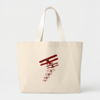 Retro Biplane Large Tote Bag