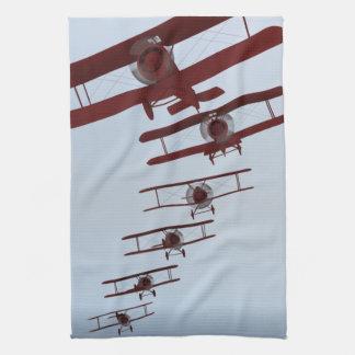 Retro Biplane Tea Towel