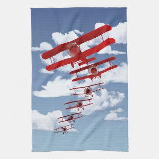Retro Biplane Towels