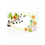 Retro Bird and Flowers