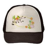 Retro Bird and Flowers Cap