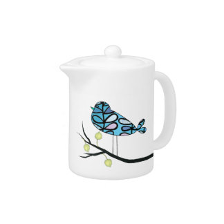 Retro Bird Design Teapot