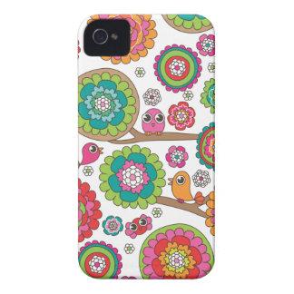 Retro bird pattern illustration iPhone 4 case