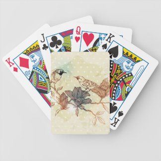 Retro Birds Bicycle Playing Cards
