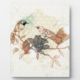 Retro Birds Photo Plaques