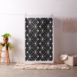 Retro Black and White Art Deco Pattern