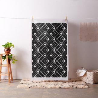 Retro Black and White Art Deco Pattern Fabric