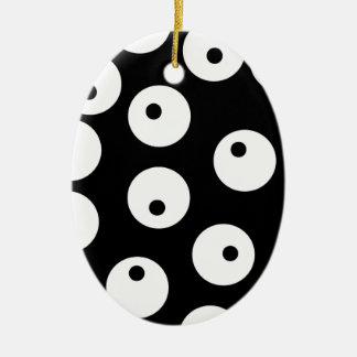 Retro black and white circle design. christmas ornament