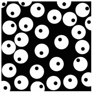 Retro black and white circle design photo cut out