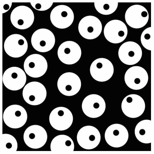 Retro black and white circle design. photo cut out