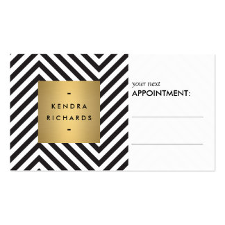 Retro Black and White Pattern Appointment Card Pack Of Standard Business Cards