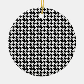 Retro black and white pattern christmas ornament