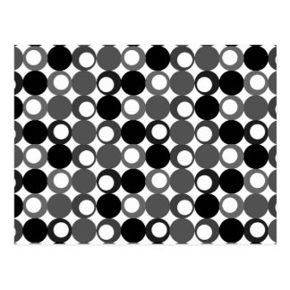 Retro Black and White Pattern Post Cards