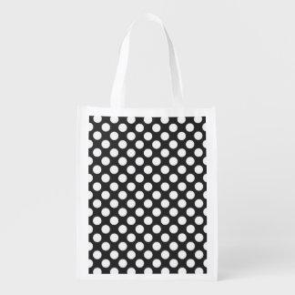 Retro Black and White Polka Dots