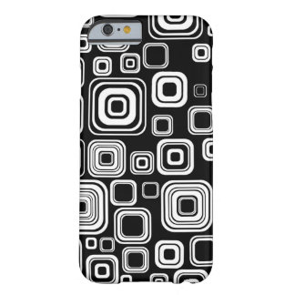Retro black and white squares barely there iPhone 6 case