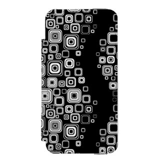Retro black and white squares incipio watson™ iPhone 5 wallet case