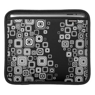 Retro black and white squares iPad sleeve