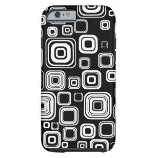 Retro black and white squares tough iPhone 6 case