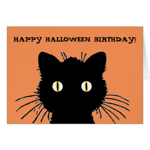 halloween birthday card