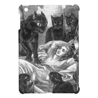 Retro black cat party drawing iPad mini covers