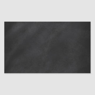 Retro Black Chalkboard Texture Rectangular Sticker