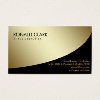 Retro Black Gold Metal Financial Services