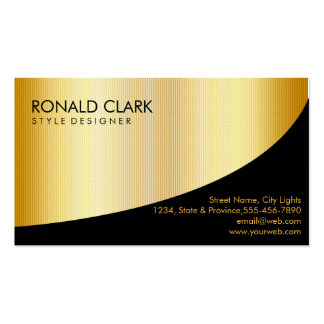 Retro Black Gold Metal Financial Services Business Card Template