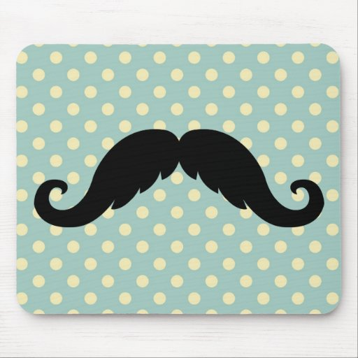 Retro Black Handlebar Mustache Moustache Mousepads