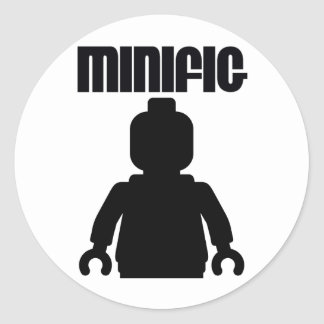Retro Black Minifig by from Customize My Minifig Round Sticker